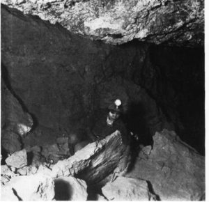 Bertha Parker Pallan [Cody] (1907-1978) is considered one of the first female Native American archaeologists. She is shown here in the place where she discovered the Giant Sloth.