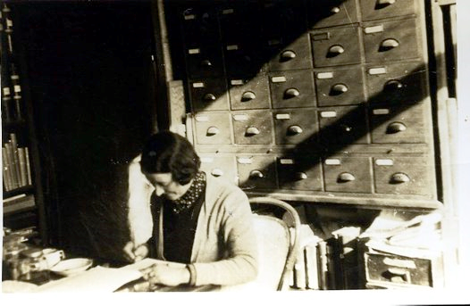 Joyce Allan at work, Australian Museum circa 1930. Australian Museum Archives AMS502. Reproduction Rights Australian Museum.